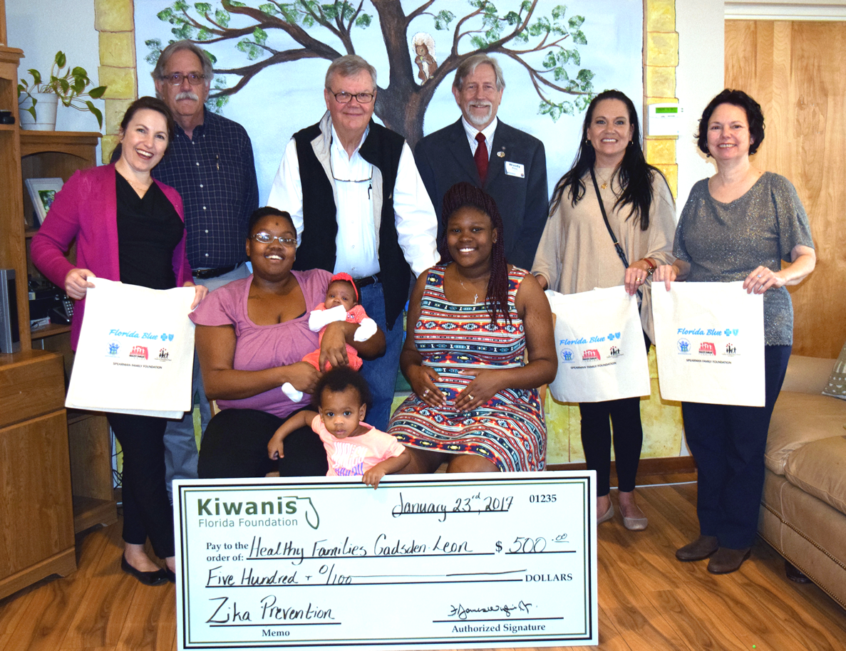 Capital City Kiwanis Club and Kiwanis Club of Quincy Receives Mini-Grant to support Healthy Families Gadsden/Leon