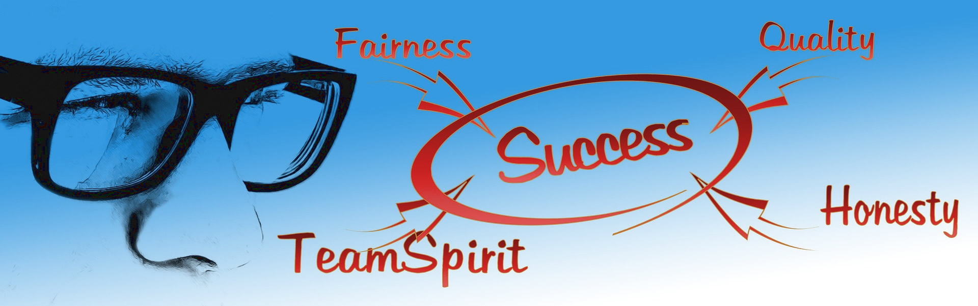 Fairness, Quality, Honesty, Team Spirit, Success