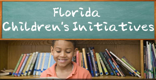 Florida Children's Initiatives Child at Library